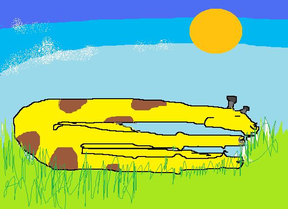slender giraffe sleeping